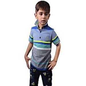 Outlook FashionFashion Single Jersey Polo Shirt For Kids-Multi Stripe-BA000144