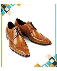 Mustard Formal Lace-Up Shoes For Men