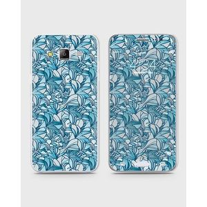 Samsung Galaxy J3 2017 (J310) Skin Wrap With Front Back And Sides BLUE LILLY-1wall83