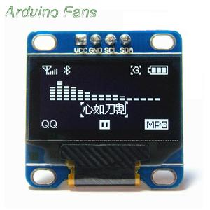 White 0.96 Inch OLED LCD Display 128X64 Display Module For Arduino NodeMCU I2C IIC Communication Interface By Arduino Fans