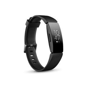 Fitbit Inspire HR Smart Fitness Heart Rate + Activity Tracker + Smart Watches (2 sizes in box) - Black