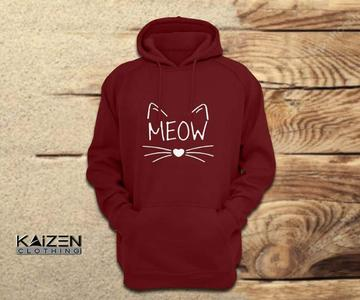 Meow Printed Hoodie For Male/Female.