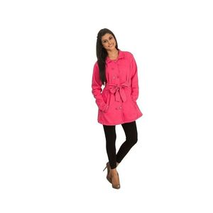 Super Shopping Pink Fleece Coat For Women