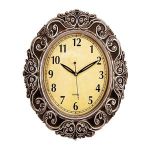 Asaan Buy Antique Wall Clock With Silver Finishing - 15x19