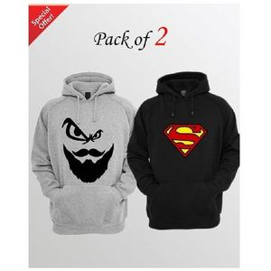 Pack of 2 Hoodie for Men - mnzd-mfww-knghod-od-s