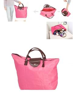 Foldable Lady'S/Girl'S Pink Handbag