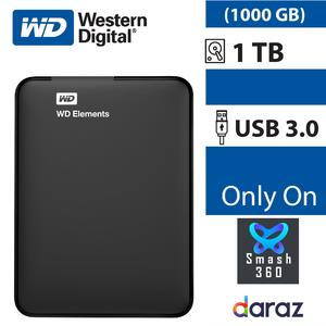 1 TB Portable Hard Disk External 1TB WD Element Hard Drive USB 3.0