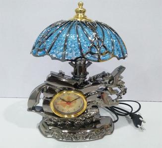 MINI LAMP CLOCK DESK BEDSIDE TABLE CLOCK HOME DECORATION