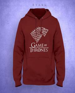 Maroon Game Of Thrones Print Hoodie For Men