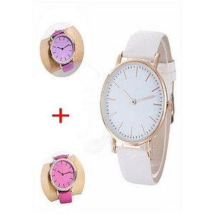 Pack Of 2 - Uv Color Changing Watch - Purple & Pink