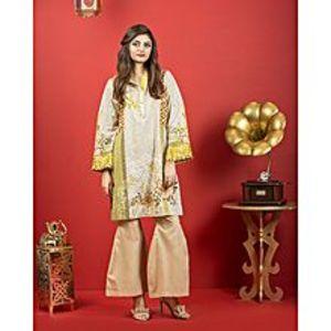 Bonanza SatrangiSunset Valley-Gray Lawn Unstitched 1 Piece Suit for Women - Ecx18Sp-004