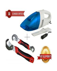 As Seen on TV  Pack of 2 - Car Vacuum Cleaner With Snap N Grip