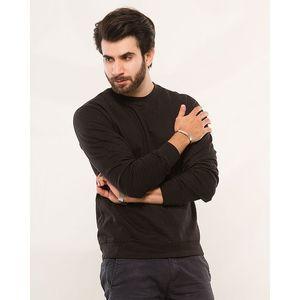 Essentials Black Fleece Sweat Shirt For Men