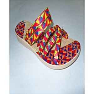 Modern Footwear Multi Colour Synthetic Rexine Casual Slipper For Women