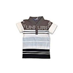 Tiny TodsGrey Cotton Jersey Polo Shirt