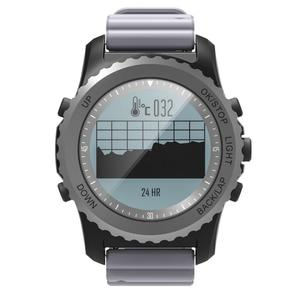 S968 IP68 Waterproof Smart Watch Bracelet w/ GPS, Pressure Altitude Temperature Movement Mode, Heart Rate Monitior - Gray
