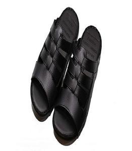 Black Rubber Slipper For Men
