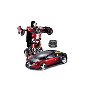 Kids Toy Transformer Rc Robot Car Remote Control Car- Red With Remote