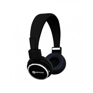 SPACE Solo Wired On-Ear Headphones - Black