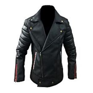 TASHCO Clothing Men's Black Leather Jacket High Quality