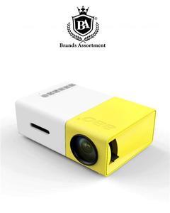 Mini Portable LED Projector YG-300 Home Cinema - Yellow