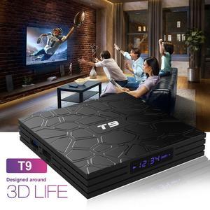 4GB RAM 64GB ROM Android 9.0 TV Box T9 RK3318 QuadCore USB 3.0 4K Set Top Box 2.4G/5G Dual WIFI Smart Media Player