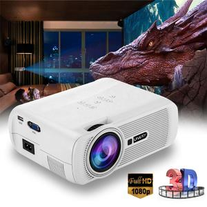 Loveliness Portable HD 1080P HDMI Multimedia LED Video Projector 3D Home Cinema Theatre