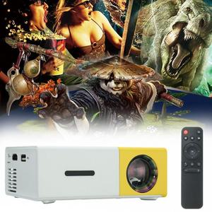 YG300 LCD Mini Support Portable Projector Home Theater Cinema Media Player 400lm Yellow+White