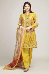 Khaadi Early Spring/Summer Un-Stitched Replica Embroidered Lawn Dress for Women