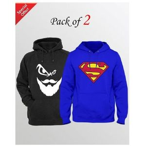 Pack of 2 Hoodie for Men - mnzd-mfww-po2knghod-oe-s