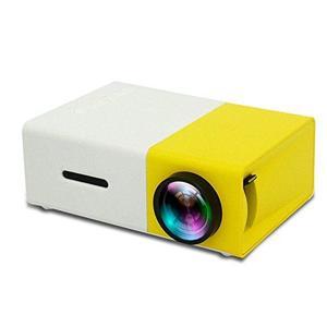 FidgetFidget Media Player Portable LED Projector Home Cinema Lot YG300 LCD Projector HD 1080P Yellow