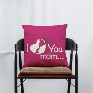 I Love You Mom Sofa Bed Home Decoration Festival Pillow Case Cushion Cover