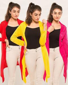 Pack of 3 - Multi color Cotton Shrug For Women