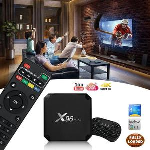 4K Smart Android Tv Box 2GB/16GB With 1000 Free Tv Channels Plus Rechargeable Wireless Keyboard Mouse Combo (N)