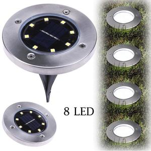 8led solar underground light 5050smd 2W 1.2V aluminum garden decorative lights mood light white single