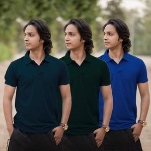 Pack Of 03 Polo T-shirts For Men