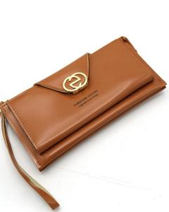 Stylish Lady Wallet Phone Pouch Handbag For Women - Brown