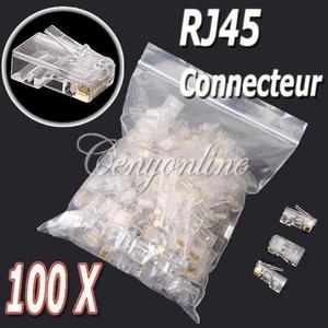 10~100x RJ45 Cat5e Cat6 Ethernet Network LAN Cable Lead Crimp End Plug Connector