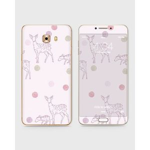 Samsung Galaxy C5 Pro Skin Wrap With Front Back And Sides DEER AND DOTS-1wall112