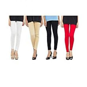Abdul Collection Pack of 4 - Multi Color Churidaar Tights for Women