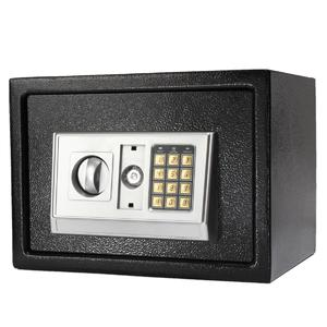 Black Steel Digital Electronic Coded Lock Home Office Safe Box +