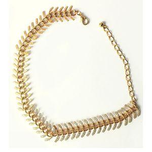 Rhizmall Golden Alloy Alvera Anklet For Women