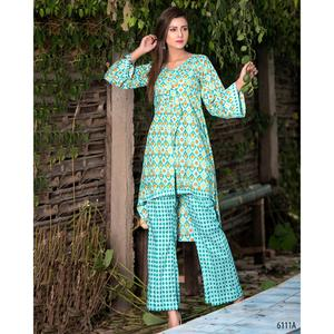 SITARA STUDIO Sapna Collection 2019 Multicolor Lawn 2PC Unstitched Suit For Women - 6111 A