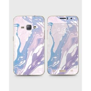 Samsung Galaxy J1 2016 (J110) Skin Wrap With Front Back And Sides Purple Marble-1wall619