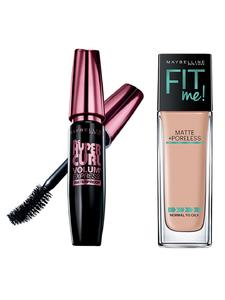 Maybelline New York Fit Me Matte + Poreless Foundation (Nude Beige-30ml) With Free Mascara