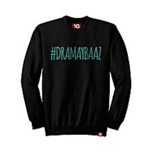 Why GenDramaybaaz - Black Colour - fleece Sweatshirt