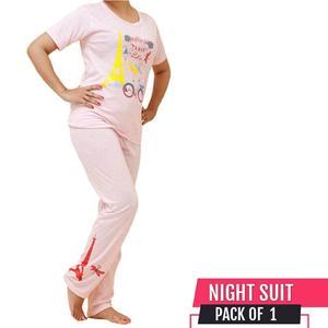 Zewraat Fashion Summer Collection 2019 Full Nightwear For Women Tshirt + Pajama
