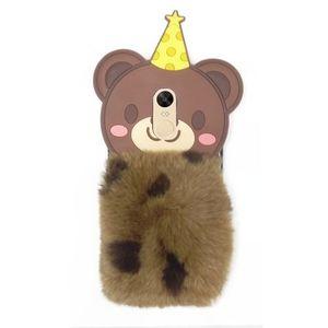 Xiaomi Redmi Note 4 Furry Bear Phone Case - Multicolor