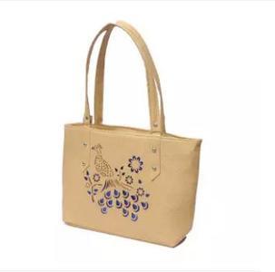 Front Peacock Design Ladies Fancy Hand Bag