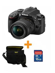 D3400 - DSLR Camera -18-55- 16Gb Card - Kit bag - Black